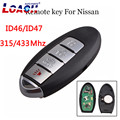 4 кнопки Smart Remote Key Keyless Fob 315/433 МГц для NISSAN Teana Altima Maxima для Infiniti car key ID47/ID46