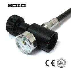NEUE CO2 zylinder PCP schießen Universal füllen adapter mit 1500psi gauge (Multi-farbe) remote On/Off ASA paintball