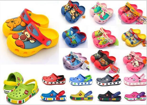 Yeni 2016, prenses, oyuncak, uçak, araba, spiderman, kölelerinin, hulk, 3D karikatür plaj terlik, bebek sandalet, çocuk ayakkabıları, erkek kız ayakkabı 21 clor
