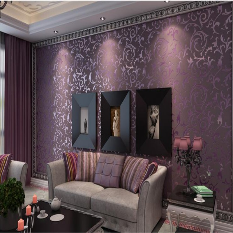 Beibehang High quality wallpaper papel de parede 3D fashionable bedroom wall background 3d wallpaper roll launch white purple beibehang papel de parede 3d drag wallpaper for walls decor embossed 3d wall paper roll bedroom living room sofa tv background