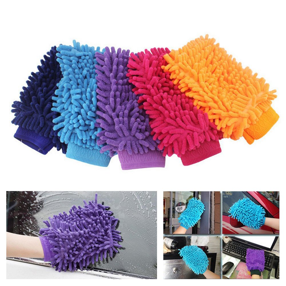 Image 5 - Car Washing Glove Car Cleaning Care Detailing Tools Sponge Hand Towel Coral Chenille Soft Vehicle Car Accessories-in Sponges, Cloths & Brushes from Automobiles & Motorcycles