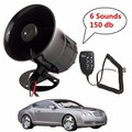 12V Loud 6 Sounds 150DB Air Horn Siren Speaker for Auto Car Boat Megaphone with MIC Loud Speaker Siren