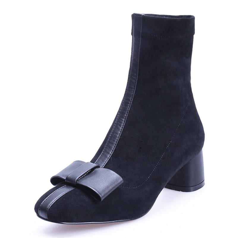 Nudo Cuadrado Invierno Otoño 2 Conasco Fiesta Boda Dulce Botas Moda Tacón Diseño Zapatos De 1 Mariposa Mujer 1 Clásico w77PFq0R