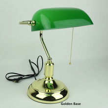 Green Desk Lamp Powerbank Table Light Office Lamparas Escritorio Decoracao Reading Lights Vintage Lustre Bedside Modern Lighting
