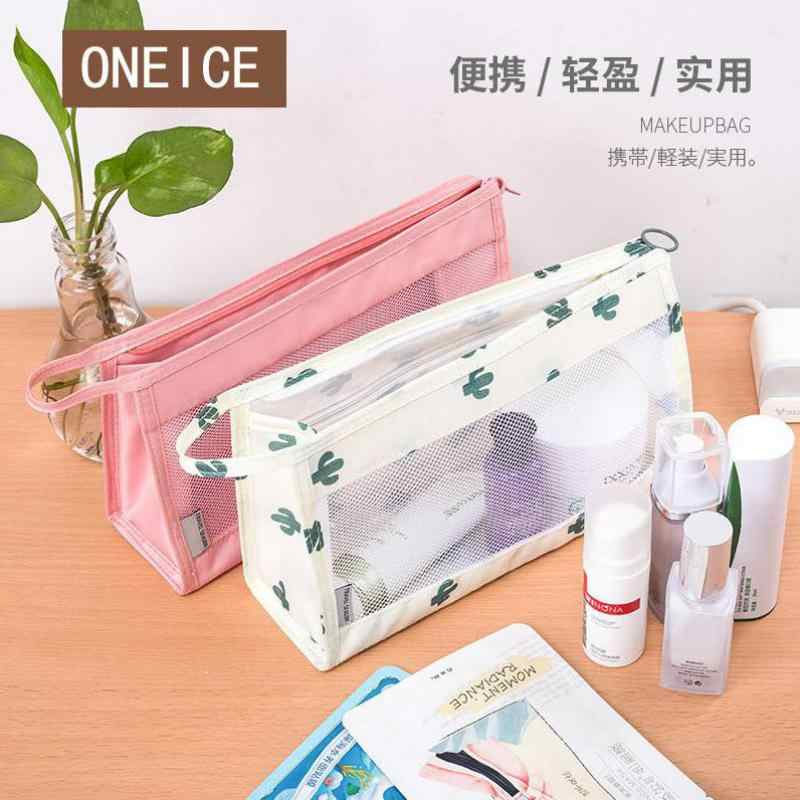 Storage Bag Portable Light Travel Wash Box Portable Mesh Cosmetic Bag Waterproof Cloth
