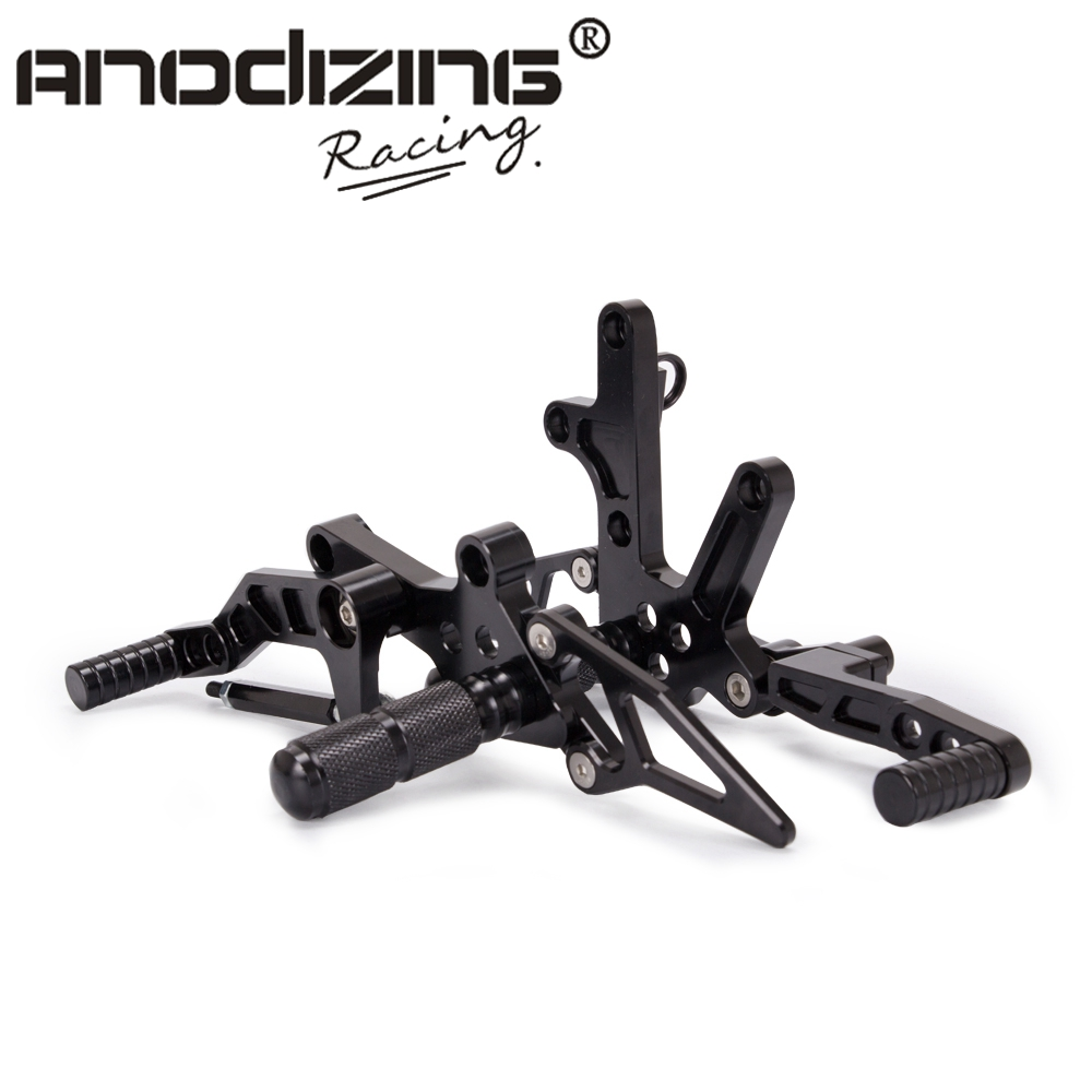 Motorcycle CNC Rearsets Rear Set Pedal Footrest Pegs GP shift For KAWASAKI Ninja 400 NINJA400 EX400 2018 cnc aluminum motorcycle adjustable rearset rear set foot pegs pedal footrest for kawasaki ninja 650 ex650 er 6n er 6f 2012 2016