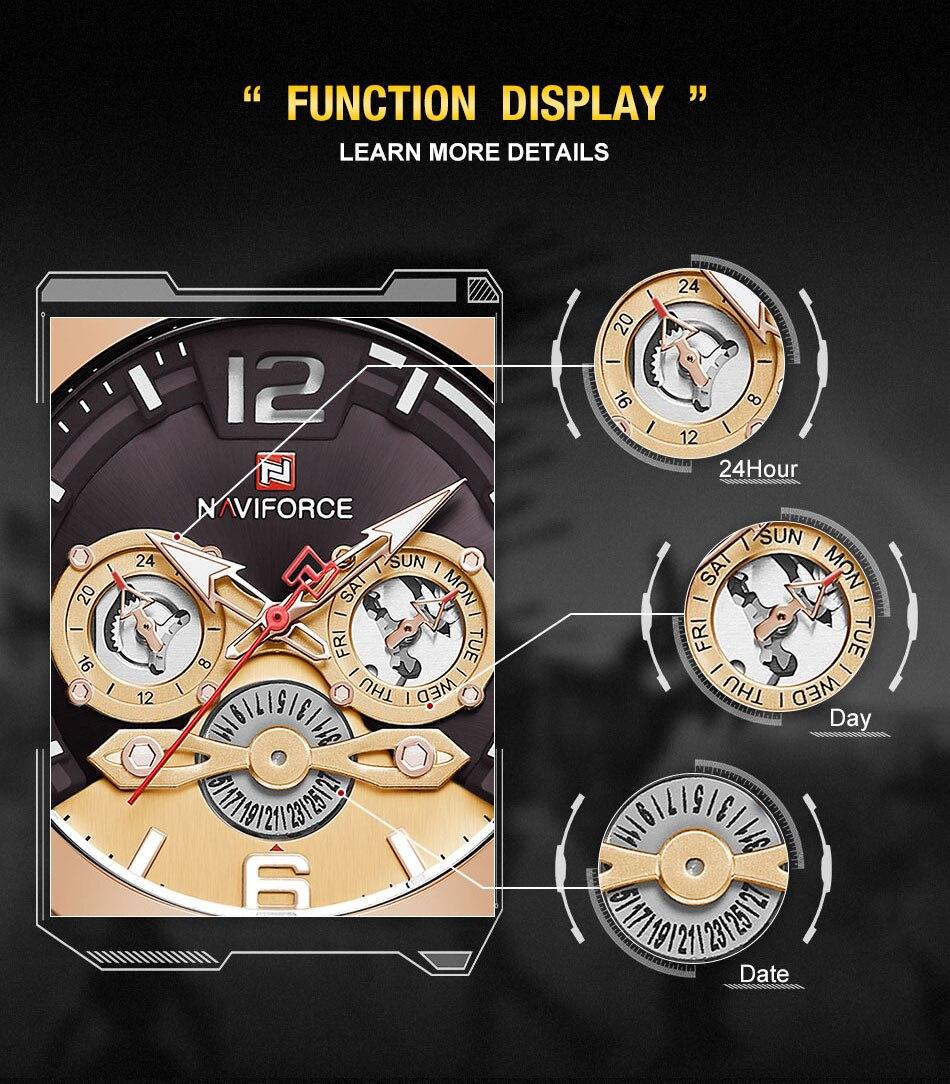 NAVIFORCE 9168 Luxury Men Watch 8