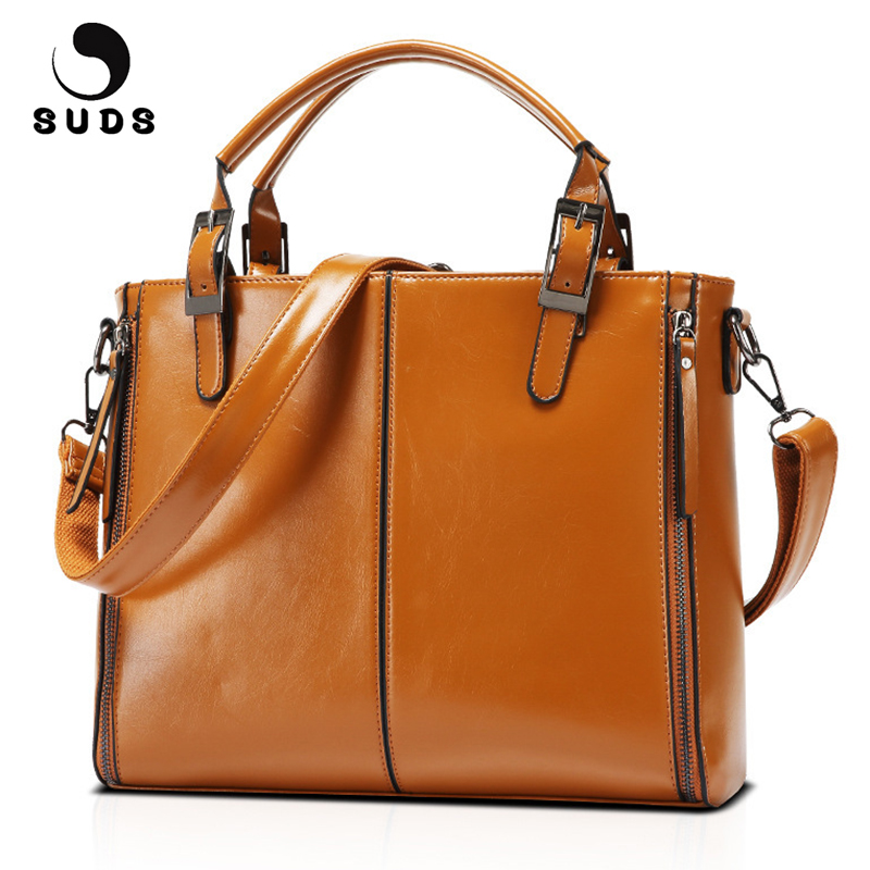 SUDS Brand Women Fashion PU Leather Solid Handbag High Quality Lady Vintage Crossbody Bag Female Travel Tote Bags Bolsa Feminina jooz brand luxury belts solid pu leather women handbag 3 pcs composite bags set female shoulder crossbody bag lady purse clutch