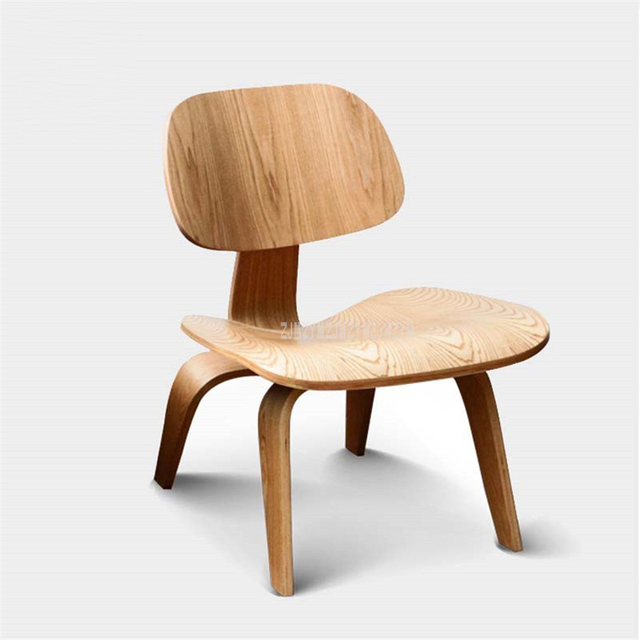 Single Living Room Lounge Chair With Wood 4 Legs Natural Full Wood Home Furniture Wooden Small Simple Low Chair With Backrest 1