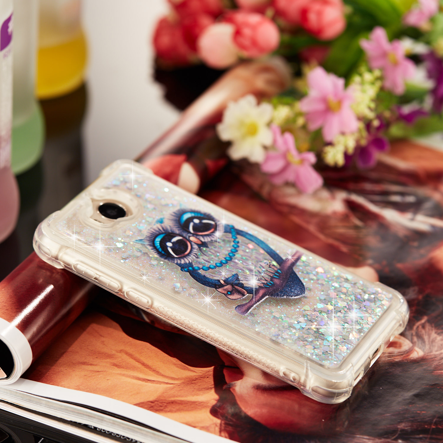 Faithful For Huawei Honor 6c Phone Case Cover Dynamic Liquid Bling Glitter Star Crystal Quicksand Soft Tpu Capa For Huawei Honor 6c Coque Phone Bags & Cases Fitted Cases