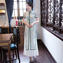 Shanghai Story Vietnam ao dai Chinese traditional dress qipao long Chinese cheongsam dress robe chinoise modern cheongsam