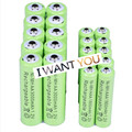 10x AA 3000mAh + 10x AAA 1800mAh 1.2V NiMH Green Rechargeable Battery Cell 2A 3A  For Flash Light, Toys  Battery