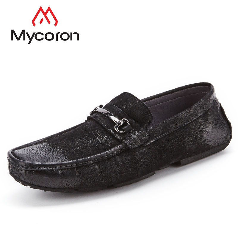 Mycoron 2018 Spring Autumn Luxury Fashion Brand Man Genuine Leather Shoes Man Fashion Casual Solid Comfortable Shoes Man vesonal 2017 brand casual male shoes adult men crocodile grain genuine leather spring autumn fashion luxury quality footwear man