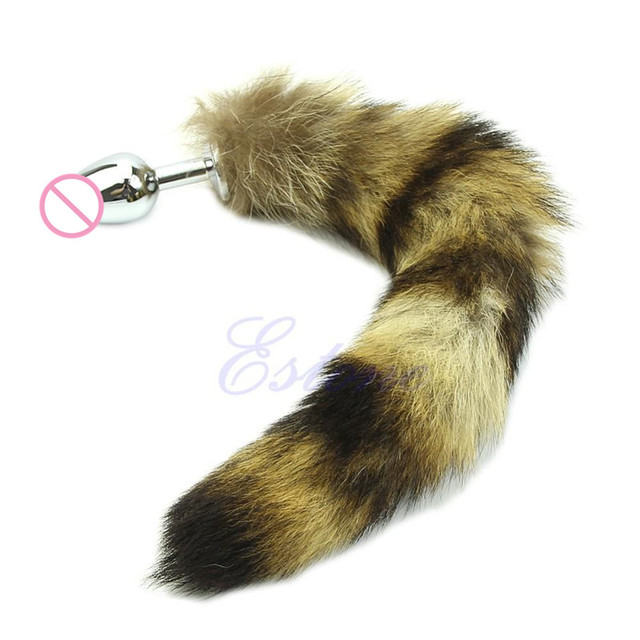 406a9890b Love Faux Raccoon Tail Butt Anal Plug Sexy Romance Sex Toys Funny Adult  Products