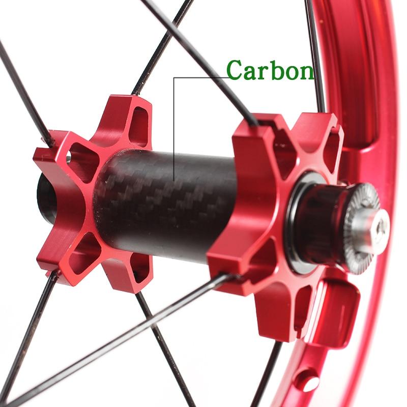 Kids Balance Bike Colorful Aluminum Alloy Wheelset  12inches 85-95MM children's slidesliding bicycle wheel hub carbon fiber