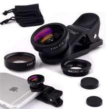 Универсальный 3 в 1 клип рыбий глаз смартфон Камера широкоугольный объектив макро Объективы для мобильных телефонов для iPhone 7 6 5 4 Смартфоны Fisheye