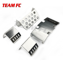 Stainless Steel Chassis Armor Protection Skid Plate for 1/10 RC Crawler Accessories TRX4 SCX10 II 90046/47 90059/60 S323