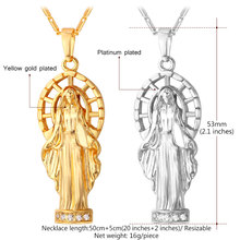 Kpop Virgin Mary Necklace Gold/Silver Color Austrian Rhinestone Women/Men Holy Pure Christian Glaze Pendant Necklace P107