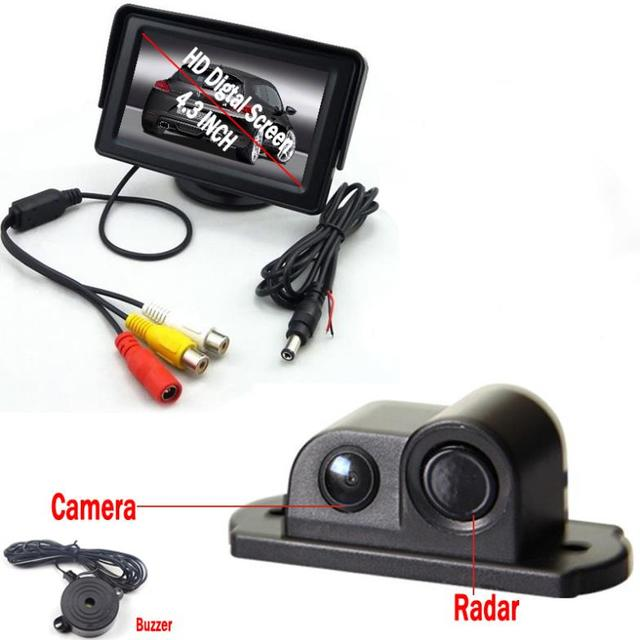 sensor estacionamento New 2014 Car Parking Sensor System with 4.3'' LCD Monitor 2 in 1 Auto Back Camera sensor