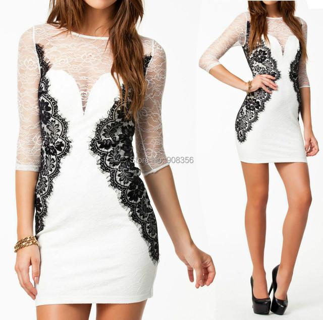 Top Designer Clothing | Top Designer Women S Party Dress White Elegant Full Lace Patchwork