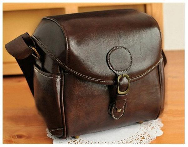 DSLR SLR Waterproof PU Leather Camera Bag Travel Bag Shoulder Bag For NIKON CANON SONY FUJI PENTAX OLYMPUS LEICA SAMSUNG national geographic leather travel camera bag soft photography bag shoulder messenger bag for canon nikon digital slr laptop