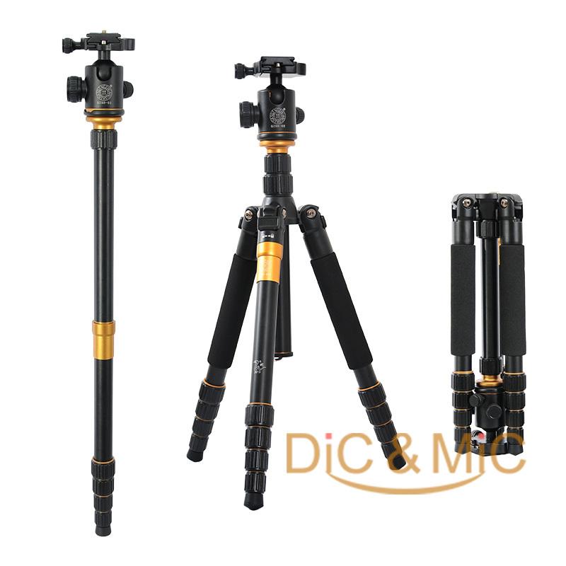 Prix pour DHL Q666 Pro QZSD-02 Photographique Professionnel Portable Trépied et Monopode Ensemble Pour Appareil Photo REFLEX Numérique Seulement 35 cm Charge Roulement 15Kg