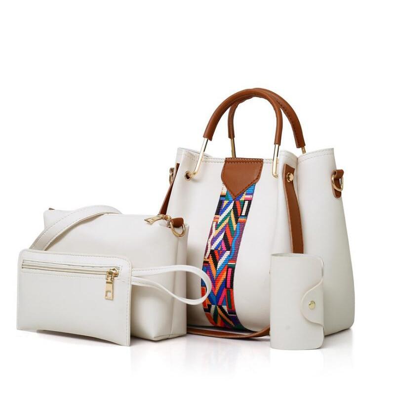2018 Новый Для женщин сумка Топ-ручка большой Ёмкость женской сумочке моды сумка кошелек дамы PU кожаная сумка через плечо комплект XS-495 ...