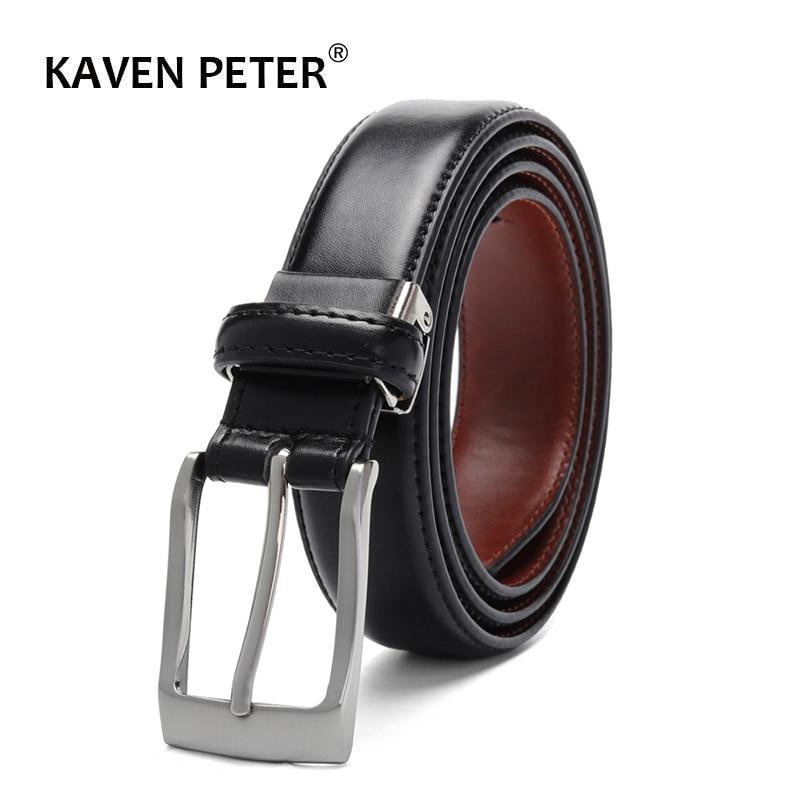 2019 Belt For Men Leather And Pu Fashion Design For Work Business Casual Waist Belt 3.0 CM Belt Width Cinturones Para Hombre