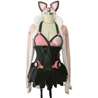 2017 Tekken 7 Lucky Pink Black Dress Game Cosplay Costume