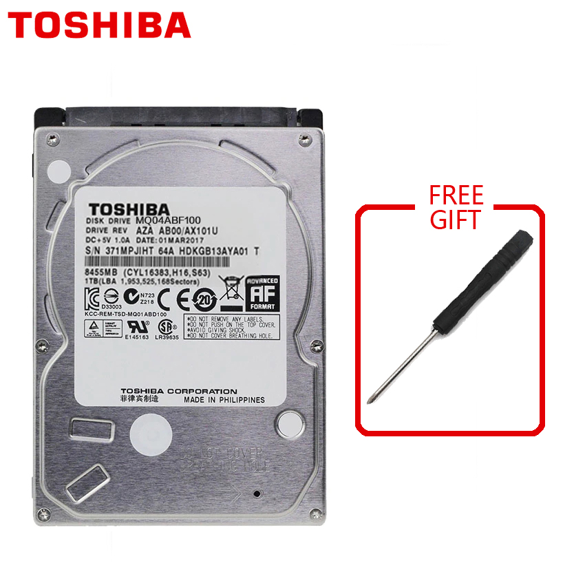 TOSHIBA 1TB Laptop Notebook Hard Drive Disk HDD HD 1000GB 1000G 2 5 7mm Height Thickness