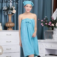 High Quality Wear The Towel Wrapped Chest Bath Skirt Bathrobe Thickened Water Sucking Limit Send Adult