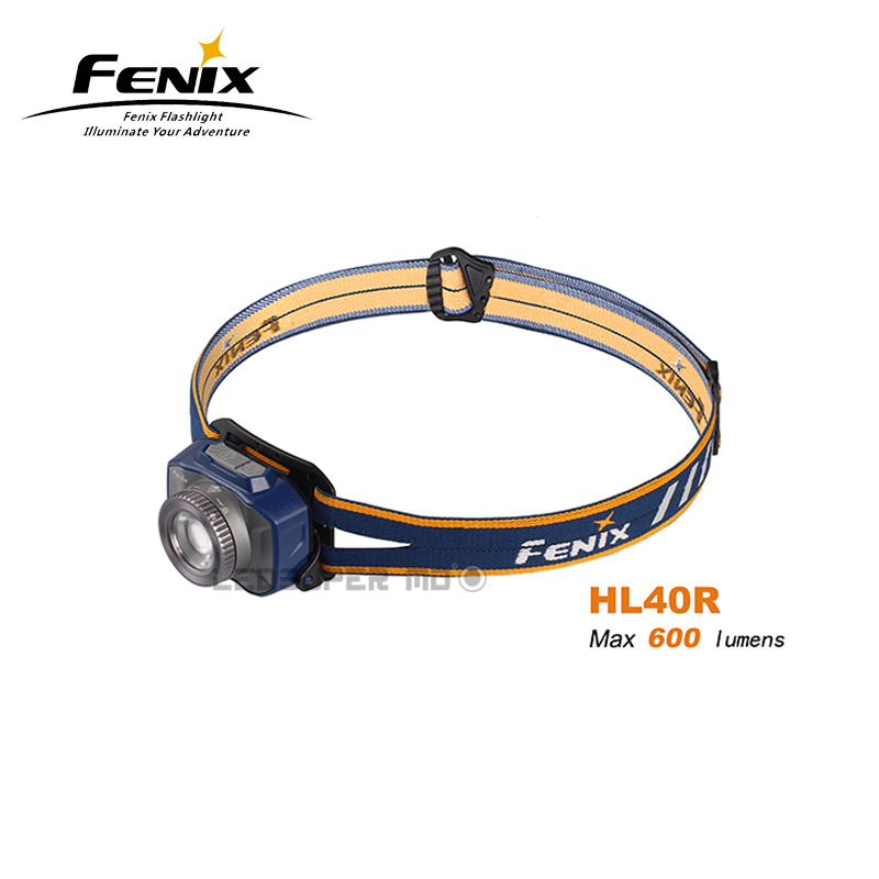New Arrival Fenix HL40R 600 Lumens Micro-USB Rechargeable All-round Rotary Focusing Headlamp Built-in 2000mAh Li-polymer Battery стоимость