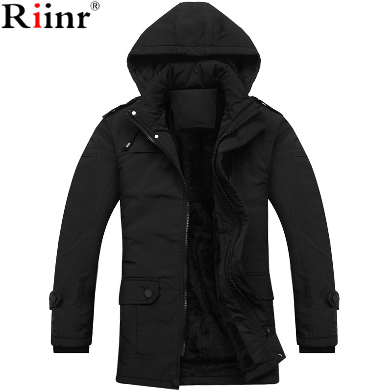 Riinr 2017 New Arrival Parka Brand Clothing Winter Men Bio-Cotton Winter Warm Regular Formal Jackets And Coats M-3XL