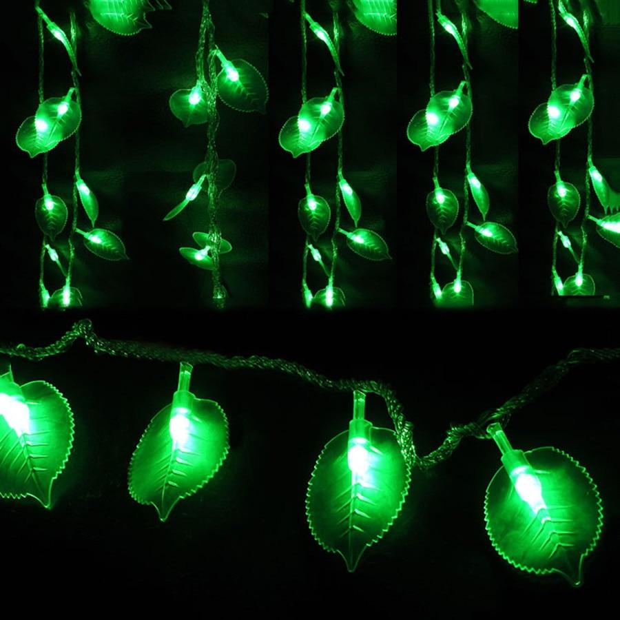 SVELTA 5M 40 LED Green String Lights AC Gerlyanda Battery Powered Decorative LED Christmas Light For Garden And Backyard Outdoor