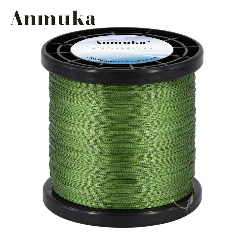 ФОТО Anmuka New Braid Line 2000M 0.14-0.50mm 10-80LB 4 Strands Super Strong Green Braided Fishing Line for Sea Fishing