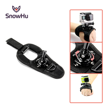 Size: L 360-degree Rotation Glove-style Mount With screw for Gopro hero 4 3+ Xiaomi Yi Camera SJ4000 GP127L Free shipping цена 2017