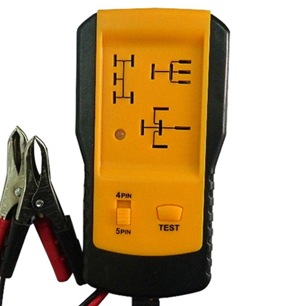 Nouveau testeur de relais électronique automobile pince crocodile outil de Diagnostic testeur de voiture pour voiture 12 V