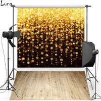Two in one Gold Sparkle Vinyl Photography Background Backdrops Wood Floor Oxford backgrounds for photo studio F303