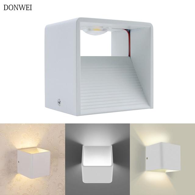 DONWE 3 W 7 W moderne bref COB mur LED lumière intérieure décoration de la maison Surface montée applique murale lampe pour couloir chambre escaliers