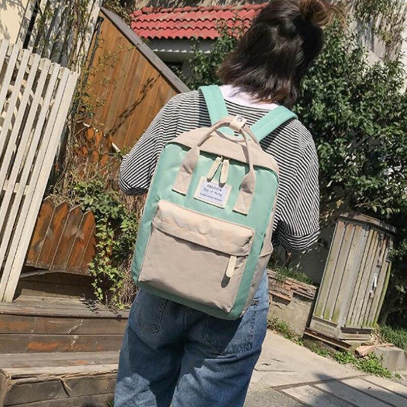 HTB1 fInB8mWBuNkSndVq6AsApXaS Yogodlns Campus Women Backpack School Bag for Teenagers College Canvas Female Bagpack 15inch Laptop Back Packs Bolsas Mochila