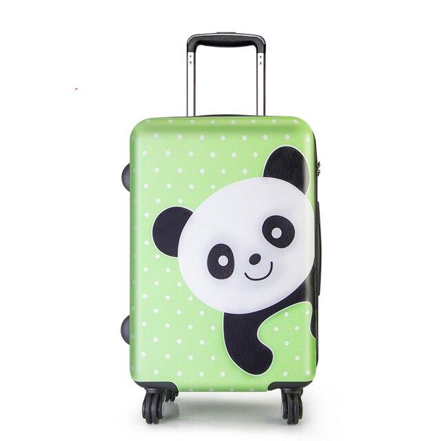 BeaSumore Cute bear Children Rolling Luggage Spinner Travel Bag 20/24 inch Kids Suitcase Wheels Trolley Password Trunk