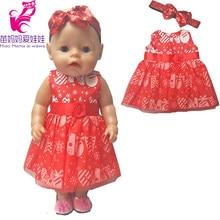 0dadb780ddec209 Для 43 см кукла красное платье повязка на голову для 18 дюймов American  Girl Doll Платье