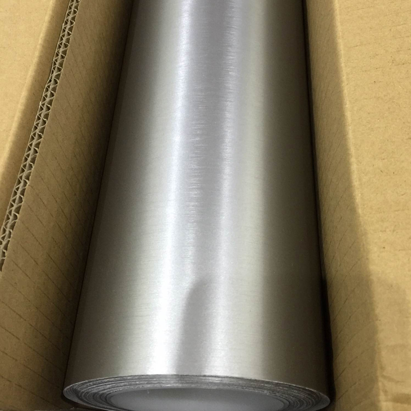 TSAUTOP 1.52x5 m brossé mat chrome housse de voiture en vinyle mat perle autocollant de voiture