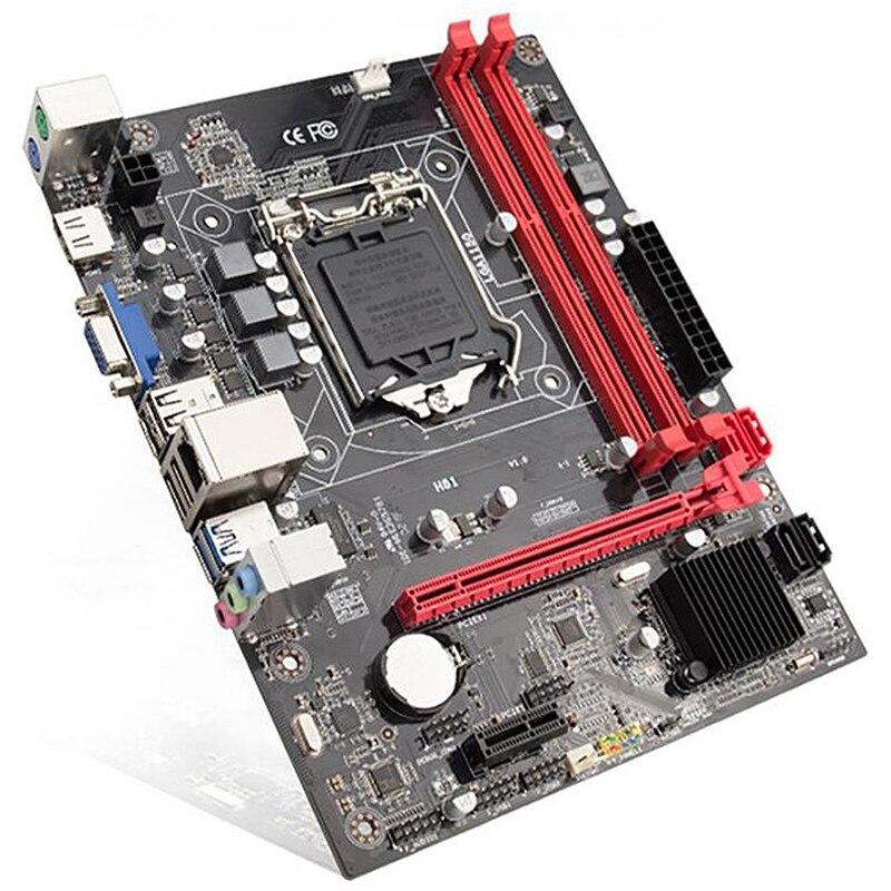 H81 ordinateur de bureau carte mère Socket Lga 1150 broches I3 I5 3470 4590 Cpu Super B85 micro-atx Uefi Bios - 2