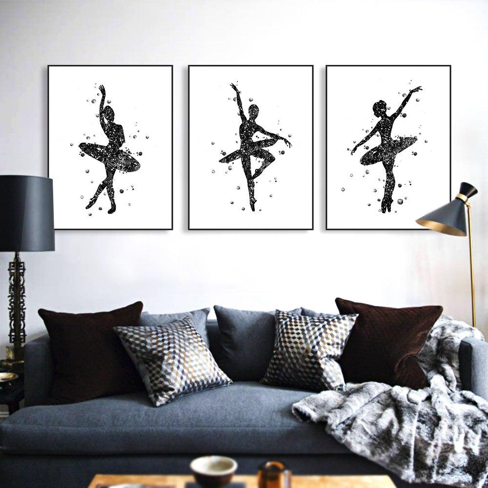 cheap finest triptyque moderne noir blanc abstrait ballet de danse art impressions affiche belle fille chambre mur photo with chambre moderne noir et blanc