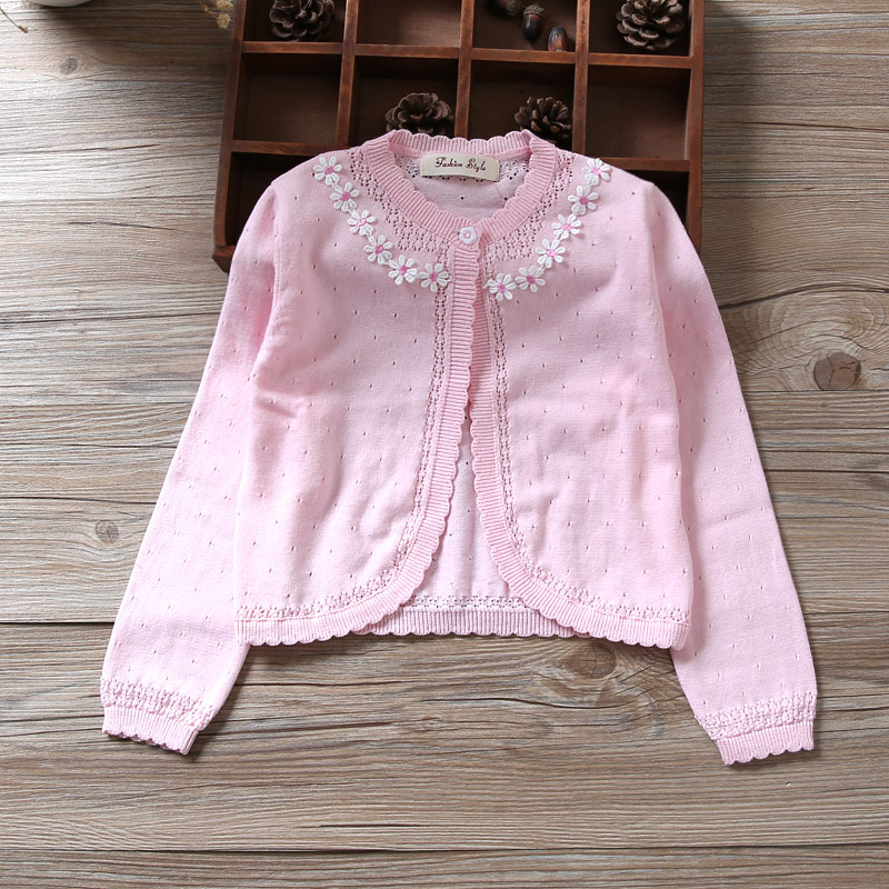 Pink Girls Cardigan Sweater Red Girl Coat For 1 2 3 4 5 6 7 8 9 10 11 Years Old Outcoat Shawl 2018 Girls Clothes RKC185003