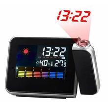 New Arrived LED Backlight Digital Weather Projection Alarm Clock Weather Forecast Station Dropshipping Despertador Hot Sale