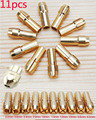 Free Shipping 11 Pieces Brass Dremel Collet Mini Drill Chucks Including 0.5/0.8/1.0/1.2/1.5/1.8/2.0/2.4/3.0/3.2mm