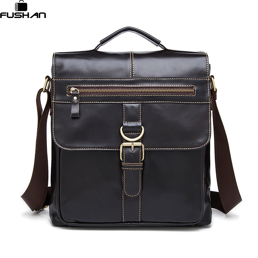 100% Genuine Leather Men Bag Fashion men messenger bags shoulder Business Men's Briefcase Casual crossbody Handbags Tote man Bag padieoe men s genuine leather briefcase famous brand business cowhide leather men messenger bag casual handbags shoulder bags