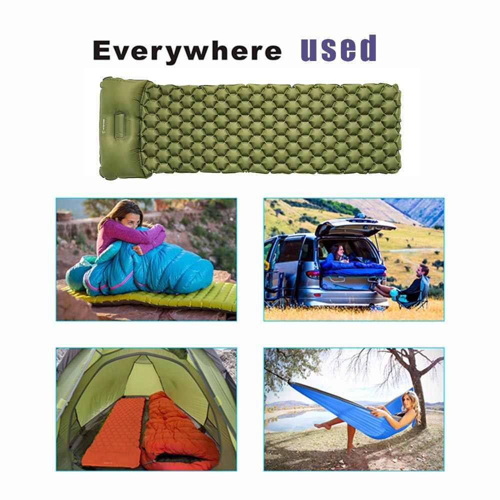Hitorhike Topselling Inflatable Sleeping Pad Mat พร้อมหมอน air ที่นอนเบาะโซฟาเป่าลม three seasons